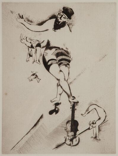 Marc Chagall, 'Der Akrobat mit der Geige', 1924