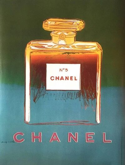 Andy Warhol, 'Chanel No. 5 (Green and Blue) Advertising Poster', 1997