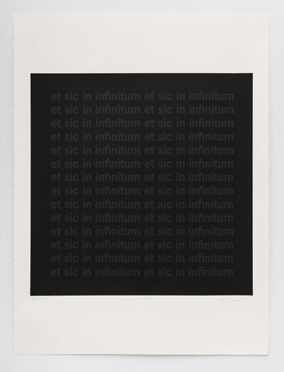 Carl Trahan, 'Et sic in infinitum', 2020