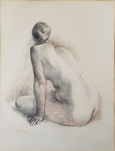 Francisco Zúñiga, 'Back view of a female seated nude', 1963