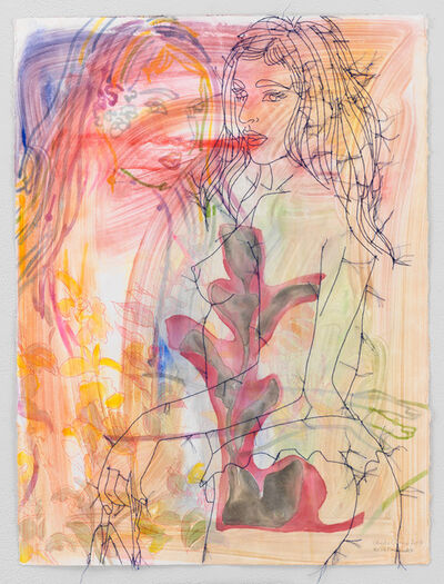 Ghada Amer & Reza Farkhondeh, 'Anges Nocturne', 2017