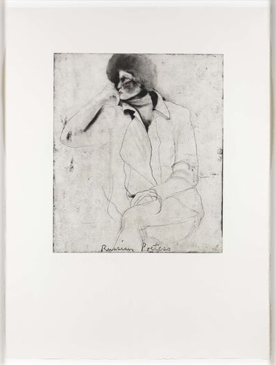 Jim Dine, 'Russian Poetess, from Eight Sheets from an Undefined Novel', 1976