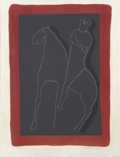 Marino Marini, 'Cavalier Rouge et Noir. Rider in Red and Black. ', 1955