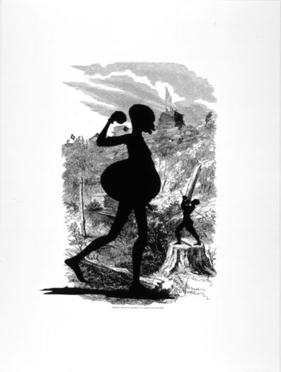Kara Walker, 'Signal Station, Summit of Maryland Heights from Harper's Pictorial History of the Civil War (Annotated)', 2005