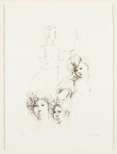 Leonor Fini, 'Les Elus de la nuit (7)', 1986