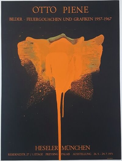 Otto Piene, 'Pictures - Fire Gouaches and Graphics 1957-1967', 1971