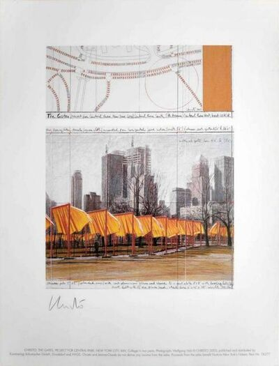 Christo and Jeanne-Claude, 'The Gates, Project for Central Park, New York, XIV', 2003
