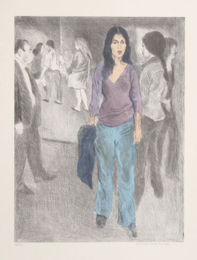 Raphael Soyer, 'Passing By (Street Scene #3)', ca. 1975