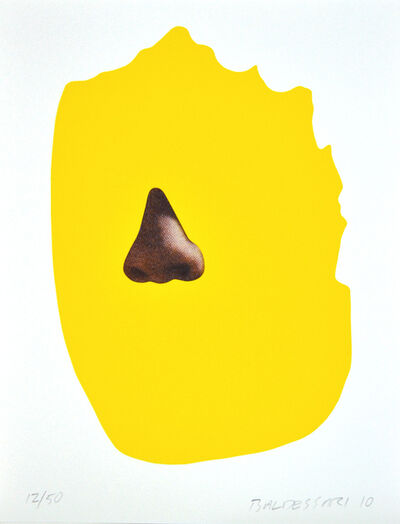 John Baldessari, 'Nose/Shilhouette: Yellow', 2010