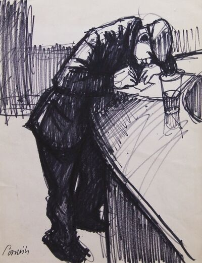Norman Cornish, 'Man at bar ii', ca. 1970