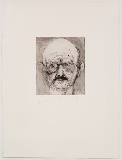 Jim Dine, 'Unique Hand Painted Self Portrait,', 1979