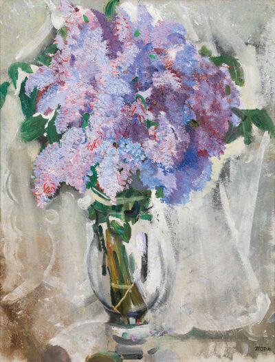 Max Oppenheimer, 'Lilac bouquet ', 1933