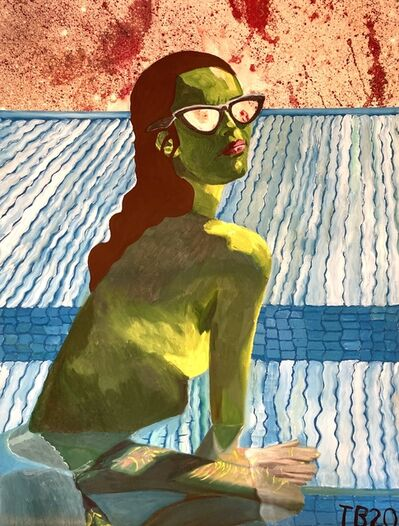 Theodore Buyer, 'Portrait Of Lyza O İn A Swimming Pool', 2020