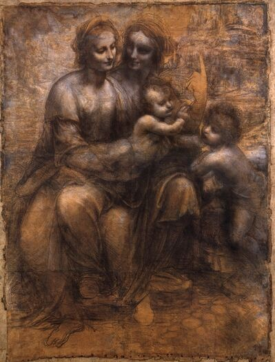 Leonardo da Vinci, 'Virgin and Saint Anne with the Christ Child and the Young John the Baptist', ca. 1500