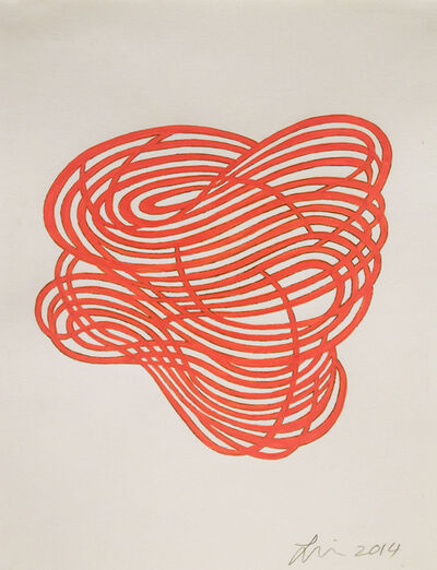 Linda Fleming, 'Gouache Wall Drawing (orange)', 2017