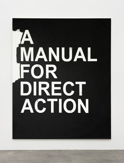 Gardar Eide Einarsson, 'A Manual for Direct Action (black)', 2018