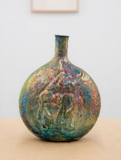 Beatrice Wood, 'Untitled (Luster pilgrim bottle with figures)', ca. 1960