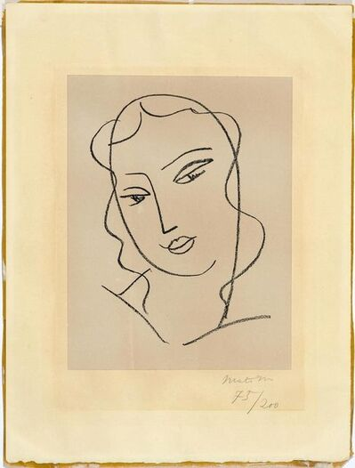 Henri Matisse, 'Etude pour la Vierge, Tête voilée', 1950-51