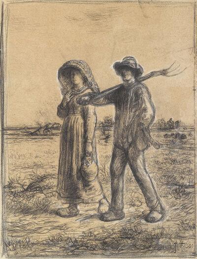 Jean-François Millet, 'Le Depart pour Les Champs', 1863