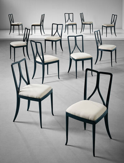 Guglielmo Ulrich, 'Set of twelve dining chairs', ca. 1940