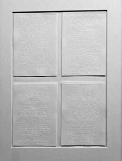 Prasannakumar Nagarajan, 'Felt with Fingertips (White)', 2007