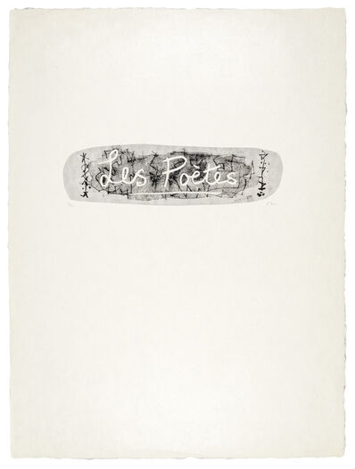 Henry Moore, 'Les Poètes cover', 1974