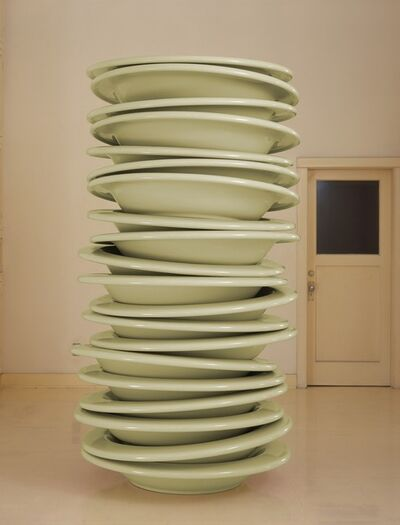 Robert Therrien, 'No title (stacked plates, mint)', 2006-2007