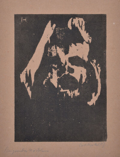 Erich Heckel, 'Singing Girl', 1907