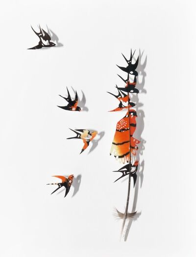 Chris Maynard, 'Swallows and Kestrel F', 2018