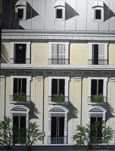 Karen Lynn, ''Paris Facade III' Oil on Canvas Contemporary Painting, Paris', 2020