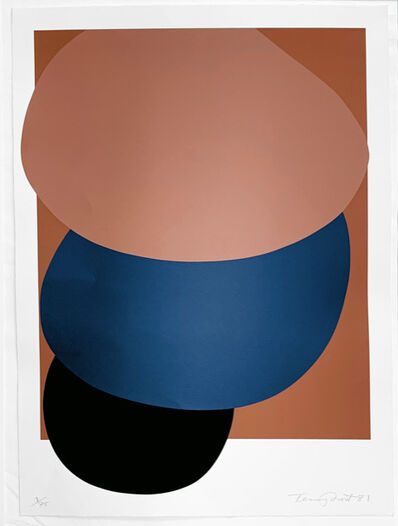 Sir Terry Frost, 'Brown, Blue and Black Descending', 1981