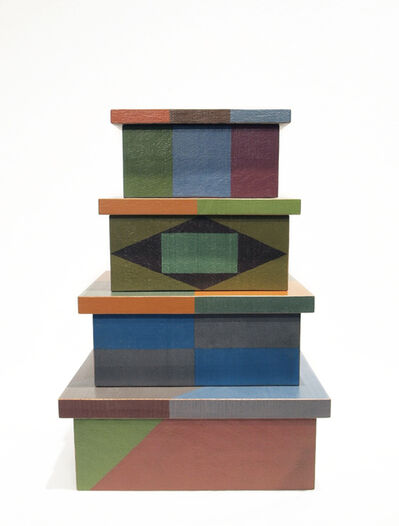 Tom Loeser, 'Four Stacking Boxes with Lids', 2016