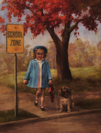 Adelaide Hiebel, 'Safely Gaurded - Calendar Illustration'