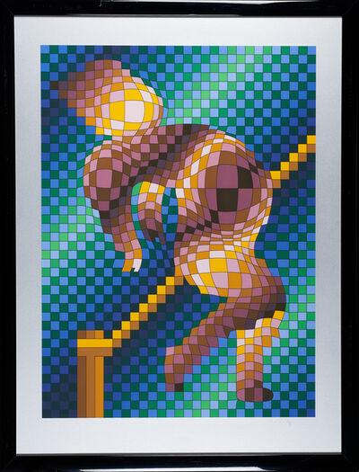 Victor Vasarely, 'Harlequin Sportif', ca. 1988