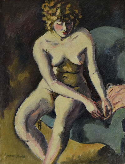 Ludovic-Rodo Pissarro, 'Jeune Fille aux Cheveux Bouclés', ca. 1910