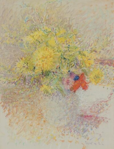 Wolf Kahn, 'Flower Study'