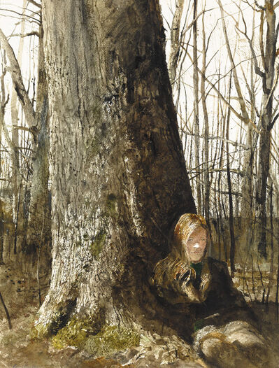 Andrew Wyeth, 'Seated by a Tree', ca. 1973