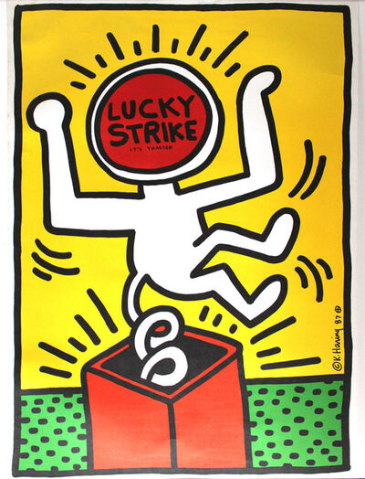 Keith Haring, 'Lucky Strike poster', 1987