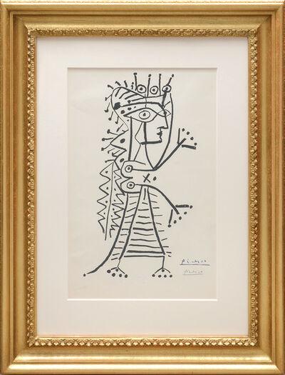 Pablo Picasso, 'La femme aux dés (Jacqueline).', 1960