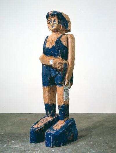 Georg Baselitz, 'frau Ultramarine ', 2004