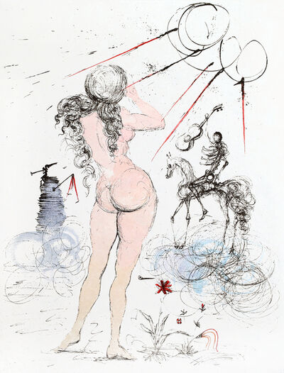 Salvador Dalí, 'Apollinaire Woman Horse and Death', 1965