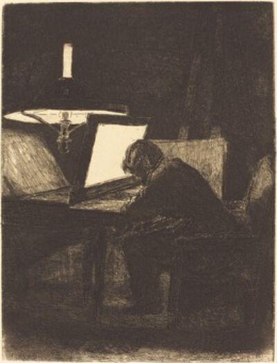 François Bonvin, 'Printmaker (Le Graveur)', 1861