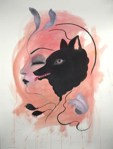 Jennybird Alcantara, 'Girl Drawing (Wolf)', 2020