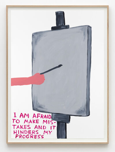 David Shrigley, 'Untitled (I am afraid)', 2015