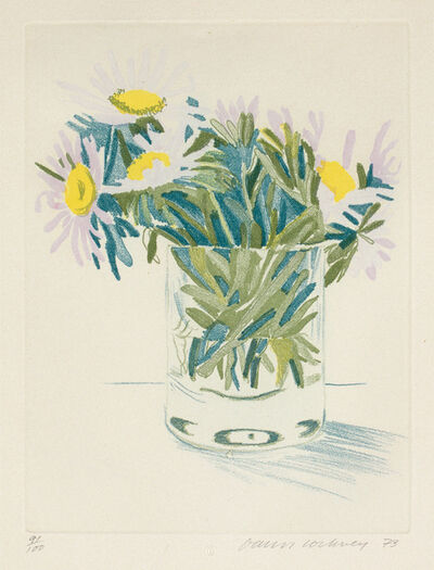 David Hockney, 'Marguerites', 1973
