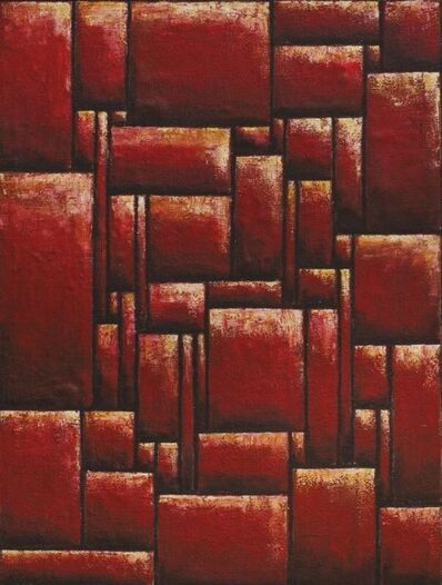 Emín Fernández, 'Constructive composition in red'