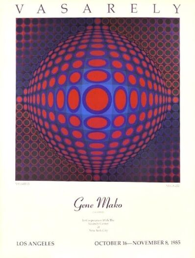 "Victor Vasarely, 'Vasarely- ""Vega 222"", Gene Mako Galleries Los Angeles, October 16-November 8, 1985 ', 1985"