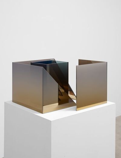 Larry Bell, 'Deconstructed Cube SS with Square Duolith', 2020