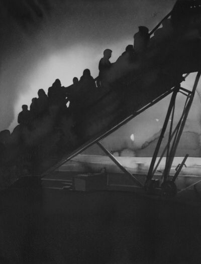 Radenko Milak, 'Hungary 1990. Russian Jews boarding planes on their way to Israel, at Budapest airport', 2019