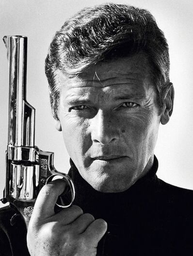 Terry O'Neill, 'Roger Moore as James Bond | co-signed by Sir Roger Moore', late 1970's